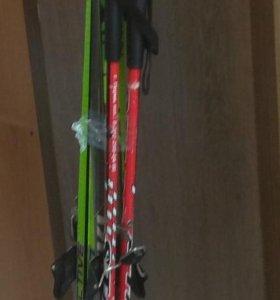 Лыжи Larsen с палками