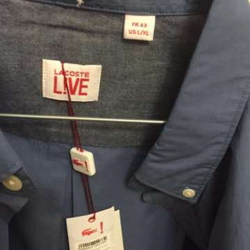 Новая рубашка Lacoste – купить в Балашихе, цена 2 000 руб., продано ... 2d71a7bc3b6