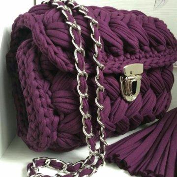 вязаная сумка клатч зефирка большая купить в коломне цена 2 800