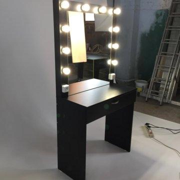 туалетный столик с подсветкой и зеркалом белый купить в москве