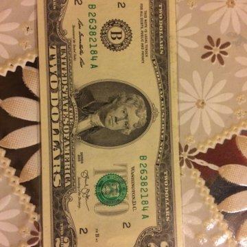 Деньги сша $2 долларов федерального резерва звезда примечание pmg флаг албании, редкая, не бывшая в обращении.