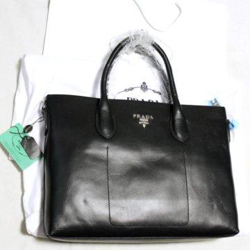 4dc7ea89aaf4 Портфель мужской кожаный Piquadro б/у; Мужская кожаная сумка портфель Prada  milano black