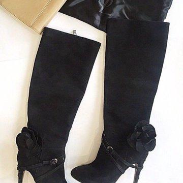 7d09fb16c9f8 Сапоги Chanel оригинал – купить в Москве, цена 10 000 руб., дата ...