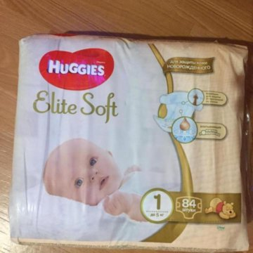 719c7515ba4b ПодгузникиHuggies classic 4  Подгузники Haggies Elite Soft 1 (до 5 кг) - 84  шт