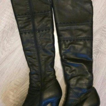 7b7feb524 Кожаные сапоги , евро зима – купить в Балашихе, цена 2 900 руб ...