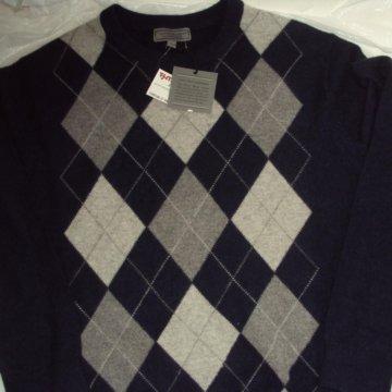 Свитр свитшот оригиналиный ston island  Кашемир свитер Daniel Bishop 2-х  слойный L Argyle e9d4c05847475