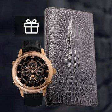 e2eca941fdc Часы Patek Philippe  🔥Портмоне alligator🔥 + часы patek philippe .