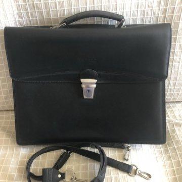 acea564b81ce Кожаный мужской рюкзак Porto 665; Классический кожаный портфель Texier