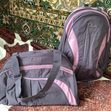 a253669f98d2 Спортивная дорожная сумка Ralph Lauren; Сумка для спорта + рюкзак Demix