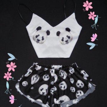 d72bfb4f432c Кенгуруми пижама Ослик Иа; Пижама с принтом ПАНДА • 30 расцветок • Шелк