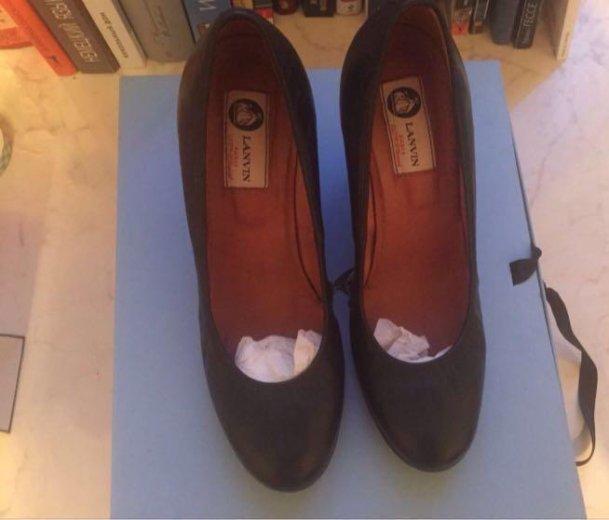 Кожаные туфли lanvin (оригинал). Фото 1. Санкт-Петербург.