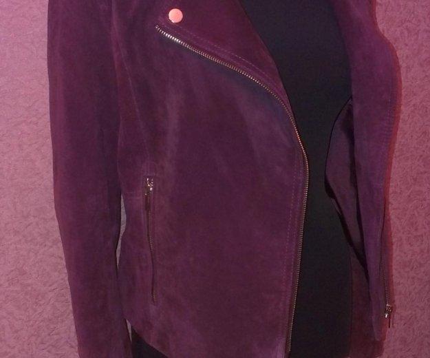 Замшевая куртка-косуха. Фото 3. Москва.