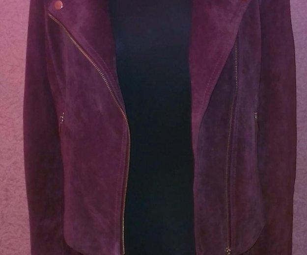 Замшевая куртка-косуха. Фото 4. Москва.