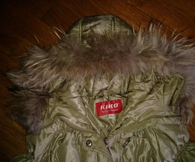"""Пуховик зимний """"kiko"""" на девочку ,рост 134. Фото 2."""