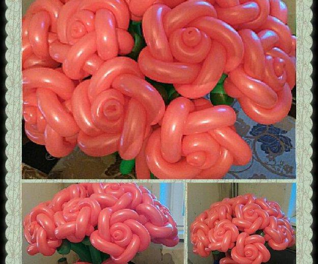 Букет из воздушных шаров - розы. Фото 1. Омск.