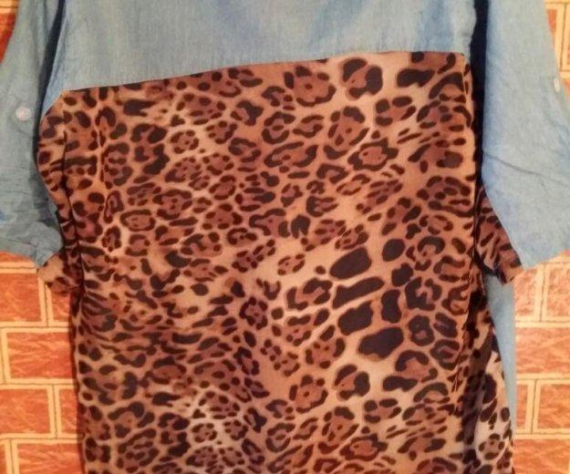 Джинсовая рубаха женская. Фото 1. Новокузнецк.