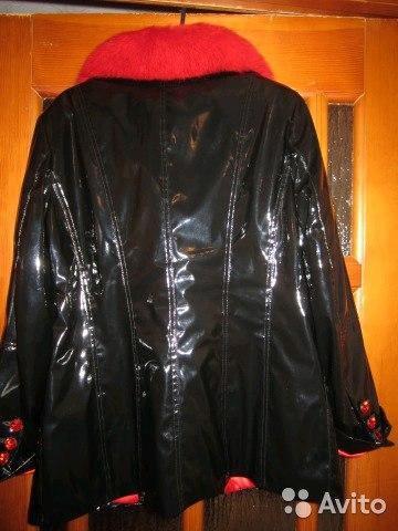 Куртка искусственная, лаковая с натуральным мехом. Фото 1. Киров.