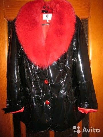 Куртка искусственная, лаковая с натуральным мехом. Фото 2. Киров.