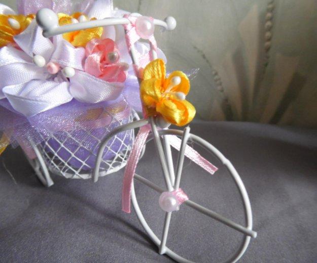 Велосипедик с цветами. Фото 2. Москва.
