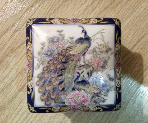 Пудреница (шкатулка), фарфор. япония. Фото 1. Нахабино.
