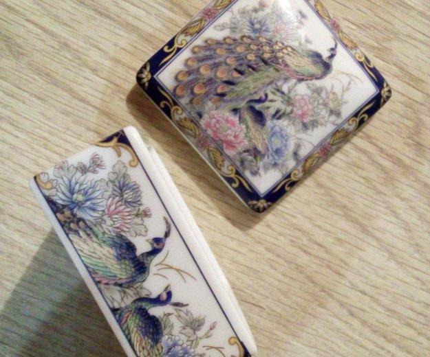 Пудреница (шкатулка), фарфор. япония. Фото 2. Нахабино.