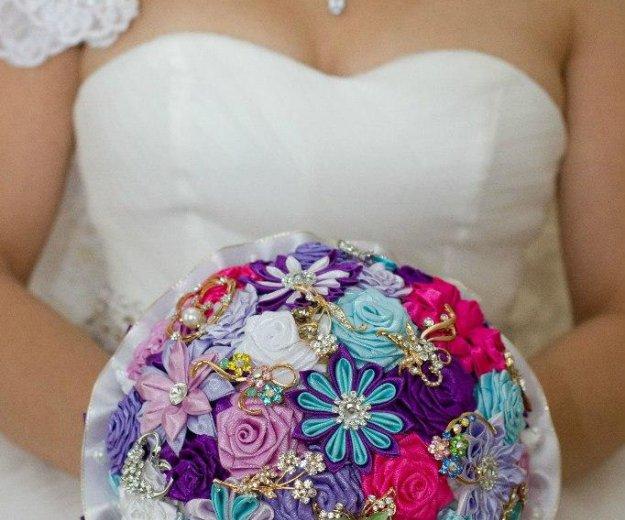 Брошь букет для невесты на свадьбу. Фото 2. Красноярск.