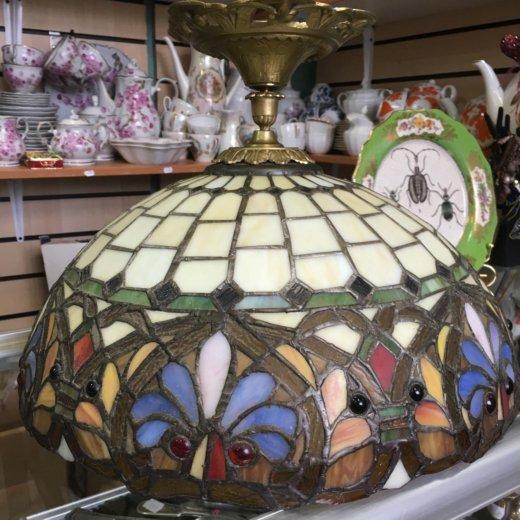 Освещение лампа тиффани с бронзой 60е гг торг сроч. Фото 1. Москва.