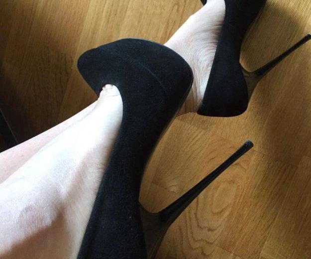 Как новые туфли  35 -36 р замша натуральная обмен. Фото 1. Москва.
