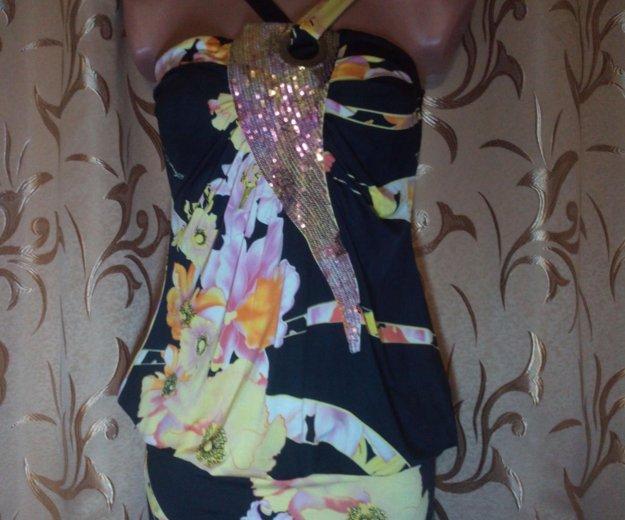 Сарафаны с цветочным принтом и пайетками. Фото 3. Евпатория.
