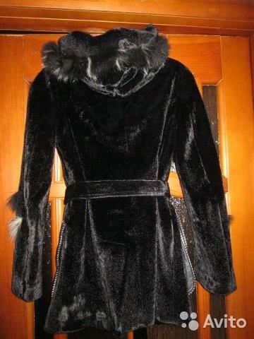 Куртка из искусственно меха с поясом. Фото 1. Киров.