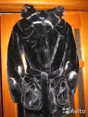 Куртка из искусственно меха с поясом. Фото 2. Киров.