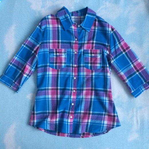 Рубашка в клетку тонкая. Фото 1. Ачинск.