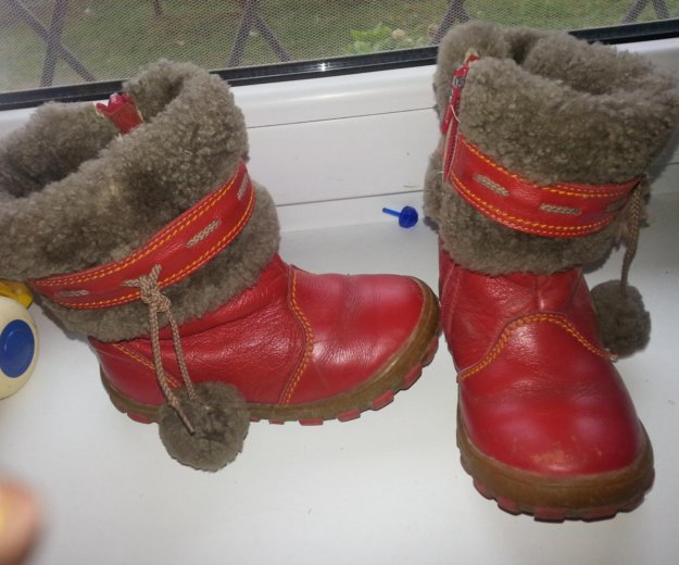 Зимние сапоги шаговита нат.кожа нат.мех размер 25. Фото 1. Калининград.