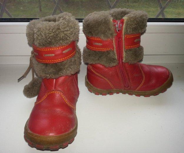 Зимние сапоги шаговита нат.кожа нат.мех размер 25. Фото 3. Калининград.