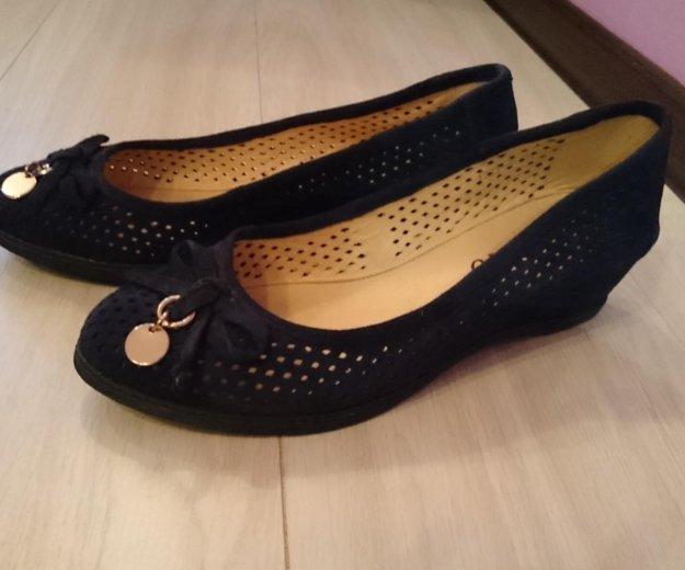 Туфли синие, замша. Фото 1. Сургут.