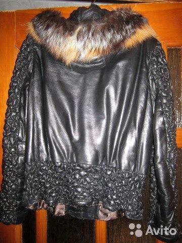 Куртка из натуральной кожи с мехом. Фото 1. Киров.
