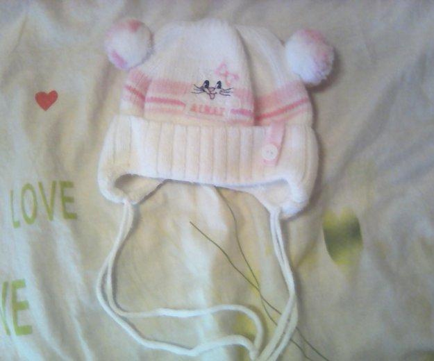 Шапка зимняя на новорожденую. Фото 1. Ярославль.