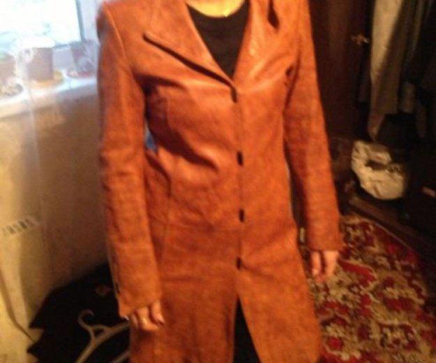 Пальто кожа. Фото 1. Москва.