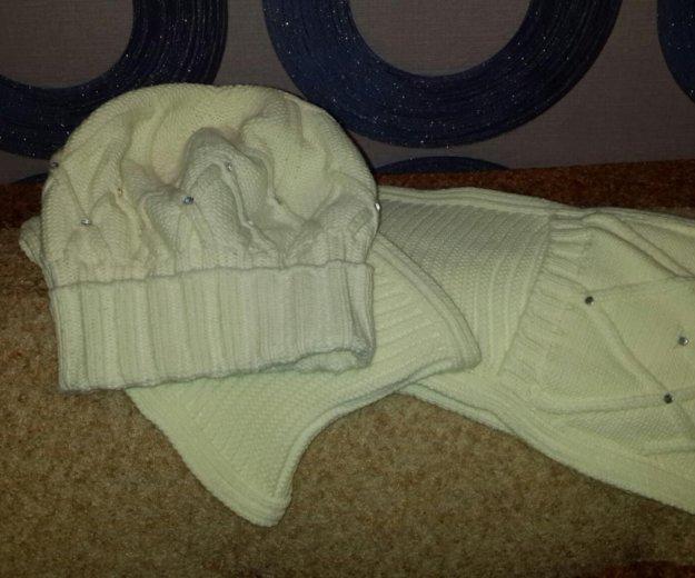 Шапка+шарф (комплект). Фото 3. Самара.
