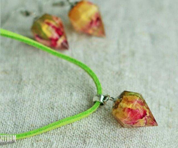 Подвеска кристалл с розой внутри. Фото 1. Краснодар.