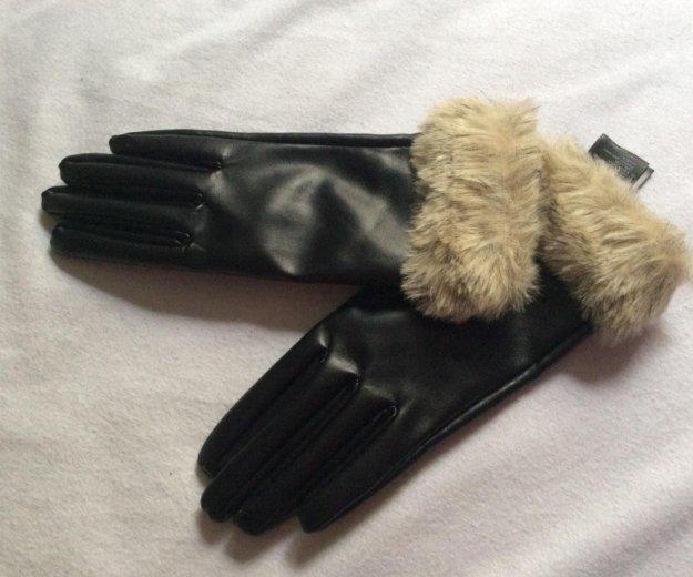 Перчатки кожзам h&m. Фото 1. Москва.