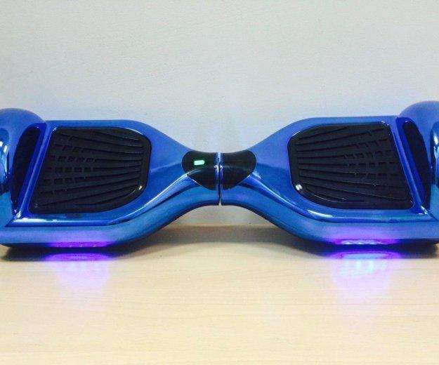Гироскутер синий, с подсветкой, 6.5 дюймовый. Фото 1. Москва.