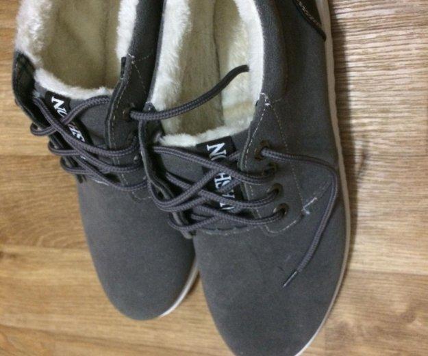 Кеды на меху /ботинки/ мужские новые р-р 43. Фото 1. Комсомольск-на-Амуре.