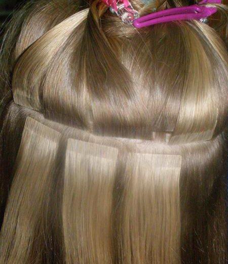 Ленточное наращивание волос!. Фото 2. Краснодар.