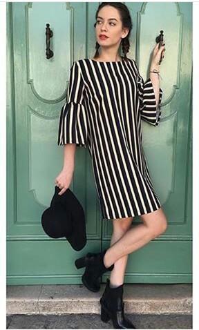 Итальянское платье в полоску. Фото 1.
