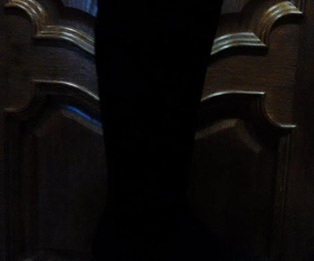 Сапоги зимние замша. Фото 1. Волжский.