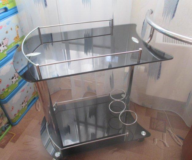 Столик сервировочный передвижной стеклянный. Фото 1. Балашиха.