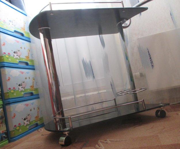 Столик сервировочный передвижной стеклянный. Фото 2. Балашиха.