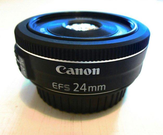Объектив canon ef-s 24 mm/2.8 stm. Фото 1. Москва.