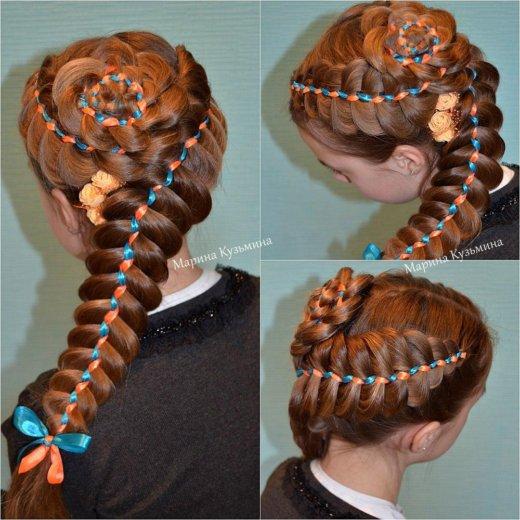 Обучение плетению кос. Фото 4. Омск.